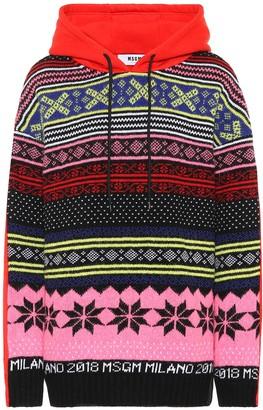 MSGM Cotton-jersey hoodie
