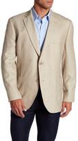 Kroon Tan Windowpane Two Button Notch Lapel Sport Coat