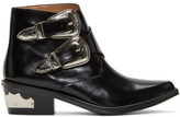 Toga Pulla Black Two-buckle Western Boots