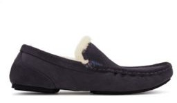 HUGO BOSS Moccasins in suede with shearling lining