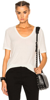 Alexander Wang Slub Classic Viscose-Blend Tee in White.