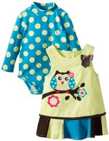 Bonnie Baby Baby-Girls Infant Owl Corduroy Jumper