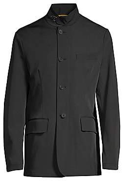 Canali Men's Buckle Collar Sport Jacket
