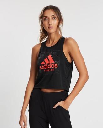 adidas Fast Graphic Crop Tee - Women's