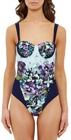 Ted Baker Entangled Enchantment Underwire One-Piece Swimsuit