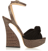 Charlotte Olympia Vreeland crocodile-effect leather sandals