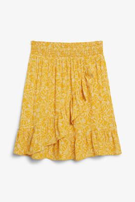 Monki Ruffle mini skirt