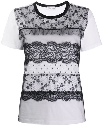 RED Valentino lace panelled T-shirt