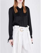 Sharon Wauchob Tie-detail satin shirt