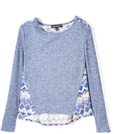 Almost Famous Navy Geometric-Accent Top - Girls
