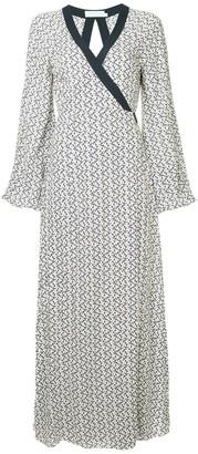 The Upside anchor print wrap dress