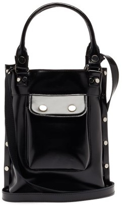 Junya Watanabe Studded Faux-leather Cross-body Bag - Black