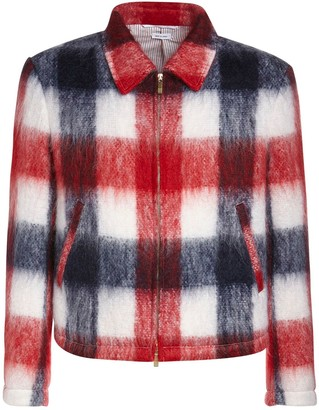 Thom Browne Brushed Mohair & Wool Check Jacket
