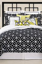 Trina Turk Trellis Twin XL Comforter & Sham 2-Piece Set - Black/White
