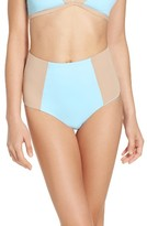 L-Space Women's L Space Portia Reversible High Waist Bikini Bottoms
