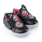 Sophia Webster MiniGirls Black Bibi Low Top Trainers