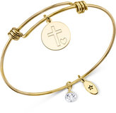 Unwritten Gold-Tone Faith Adjustable Bangle Bracelet