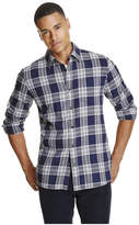 Joe Fresh Men's Plaid Flannel Shirt, Admiral Blue (Size S)