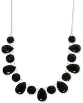 Nine West Multiple Faceted Stone Collar Necklace