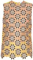 Jonathan Saunders Jessica guipire-lace sleeveless top