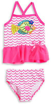 Flapdoodles Baby Girls Sequined Fish Tankini Swimsuit Set