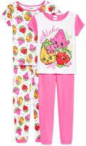 Shopkins 4-Pc. Aloha Cotton Pajama Set, Little Girls (2-6X) & Big Girls (7-16)