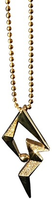 Cristina Cipolli Jewellery Snaketric Edgy Pendant Necklace in Gold Vermeil