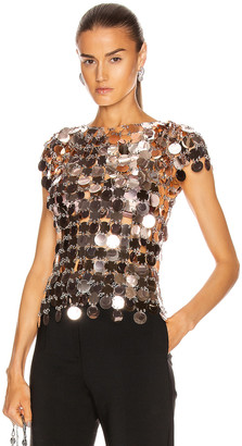 Paco Rabanne Plastic Pastilles Top in Pink Gold | FWRD