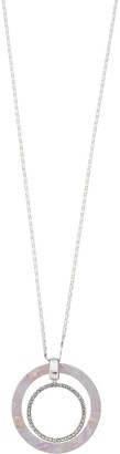 Lauren Conrad Nested Resin & Pave Circle Pendant
