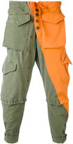 Greg Lauren - patchwork cargo trousers - men - Cotton - 3
