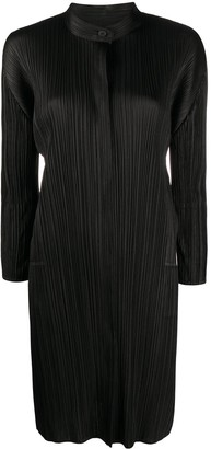 Pleats Please Issey Miyake Pleated Shirt Dress