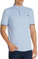 Fred Perry Woven Collar Slim Fit Pique Polo