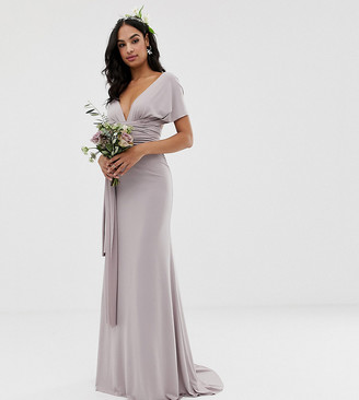 TFNC bridesmaid exclusive multiway maxi dress in grey