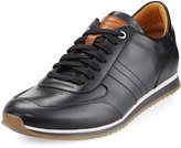 Magnanni Leather Lace-Up Platform Sneaker