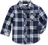 First Impressions Plaid Cotton Flannel Shirt, Baby Boys (0-24 months), Created for Macy's