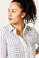 Azalea Long Sleeve Striped Pocket Top