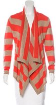 Magaschoni Striped Cashmere Cardigan