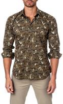 Jared Lang Moto Long Sleeve Trim Fit Shirt