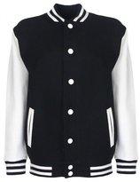 FDM Junior/Childrens Unisex Varsity Jacket (Contrast Sleeves)