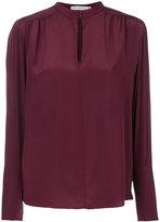 Mary Katrantzou Keyhole bell sleeved blouse