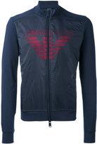 Armani Jeans logo print zipped sweatshirt - men - Cotton/Polyamide - XXL