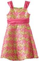 Rare Editions Girls 7-16 Butterfly Soutach Dress
