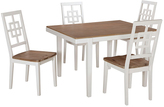 Signature Design by Ashley White & Brown Brovada Five-Piece Table Set