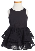 Milly Minis Girl's Whitney Eyelet Lace Fit & Flare Dress