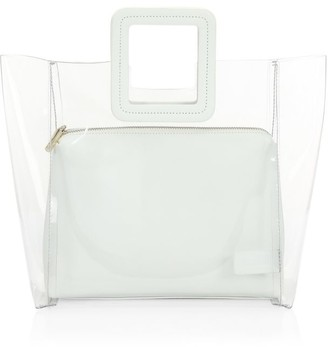 STAUD Shirley PVC & Leather Tote