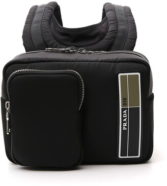 Prada Logo Patch Mini Backpack