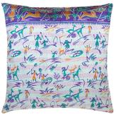Found Object Kantha Pillow