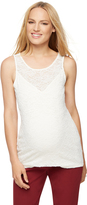 A Pea in the Pod Lace Maternity Tank Top