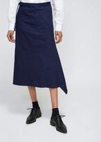 Yohji Yamamoto Navy Flare Tight Skirt