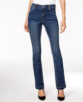 INC International Concepts Petite Embellished Indigo Wash Bootcut Jeans, Only at Macy's